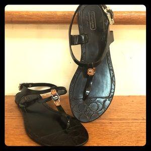 Coach size 6 buckle Sandals.